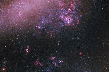 The Large Magellanic Cloud,NGC 2070 and surroundings